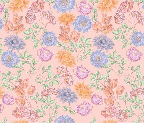Bohemian Flower Shower fabric by trudeludie on Spoonflower - custom fabric