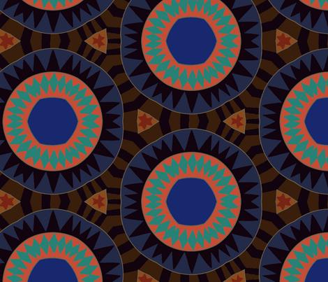 Boho Sun fabric by marykathrynryan on Spoonflower - custom fabric