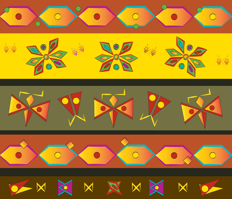 Back_to_Boho fabric by alohajean on Spoonflower - custom fabric