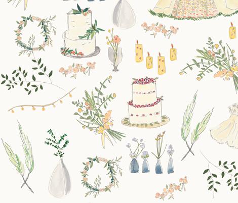 Bohemian Wedding  fabric by frumafar on Spoonflower - custom fabric
