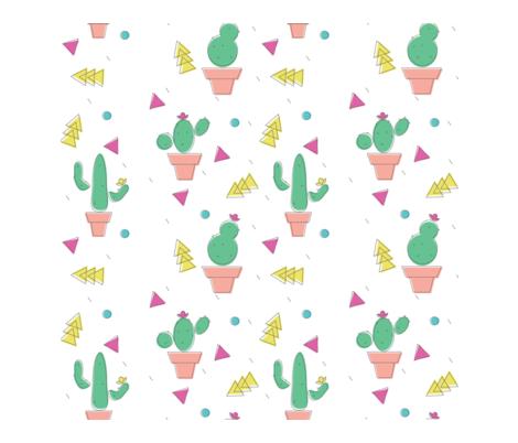 Memphis Cactus fabric by breiam on Spoonflower - custom fabric