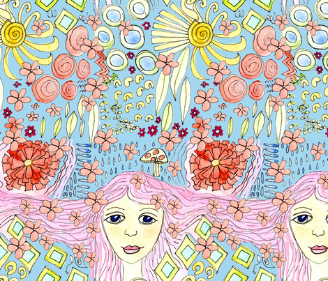 Bohemian Girl fabric by oceangirlcreativeco on Spoonflower - custom fabric