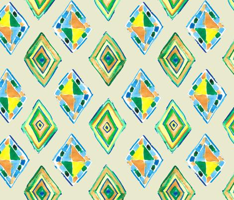 BohoGeo fabric by bluejoystudios on Spoonflower - custom fabric