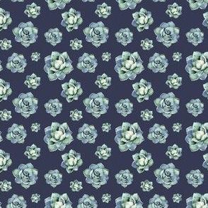 "2"" Happy Day Cactus / Denim Wash /  Muted Blue"