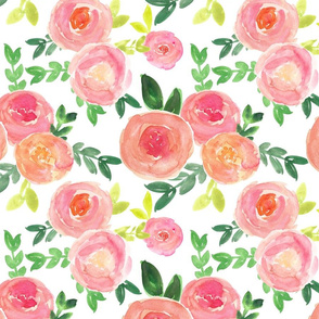 bright pink watercolor floral