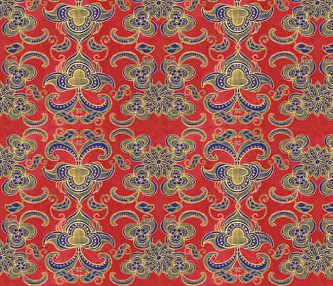 Boho arts and crafts style fabric by palifino on Spoonflower - custom fabric