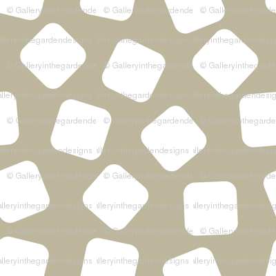 Soft Color White Marshmallows on a Putty  Taupe Background