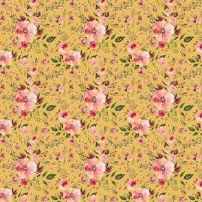 "2"" Floral Rhapsody / Dark Yellow"