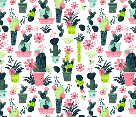 Cacti  fabric by webvilla on Spoonflower - custom fabric