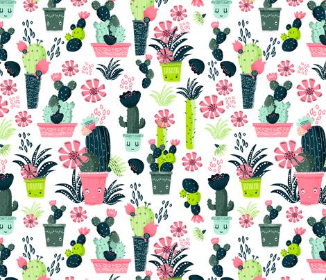 Cacti  fabric by webvilla on Spoonflower - custom fabric