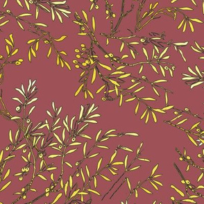 Gold branches on mulled cider pink rosewood gold and pink