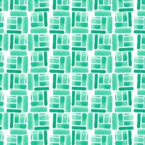 Blocked Green Watercolor