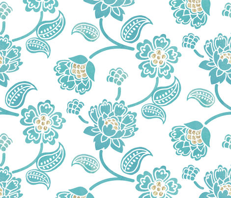 Bohemian Flower fabric by adenaj on Spoonflower - custom fabric