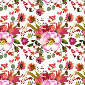 Pink and Coral Bursting Florals