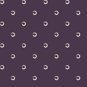 Classic Circle-AUBERGINE/IVORY