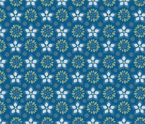 Forest Flowers fabric by jean_mcallister on Spoonflower - custom fabric