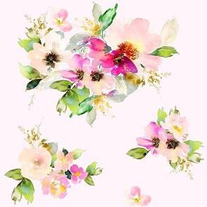 """8"""" Kalani Blooms - Blush"""