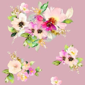 "8"" Kalani Blooms - Dusty Rose"