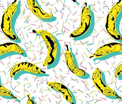 BananaCat fabric by spottedpepperdesigns on Spoonflower - custom fabric