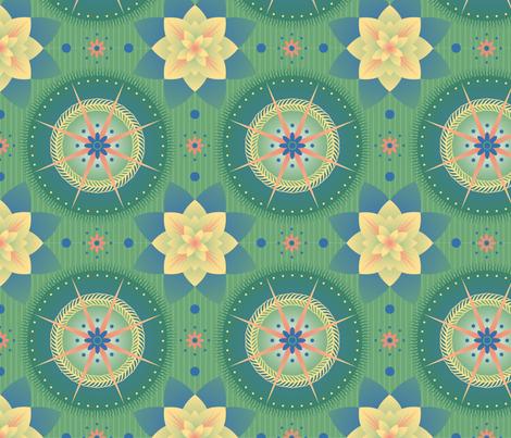 Mandala Print fabric by crowcreative on Spoonflower - custom fabric