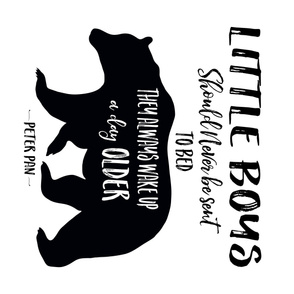 "42""x36"" Little Boys Quote Bear"