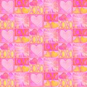 XOXO Love Blocks in Pink and Yellow