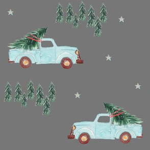 "8"" Family Fun Holidays Christmas Tree  / Medium Shade Grey"