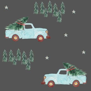 """8""""  Family Fun Holidays Christmas Tree / Dark Grey"""