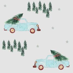 """8"""" Family Fun Holidays Christmas Tree  /  Light Grey"""