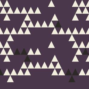 Large Triangle-AUBERGINE