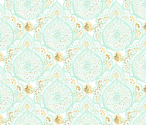 Medallion Mint Dream fabric by crystal_walen on Spoonflower - custom fabric