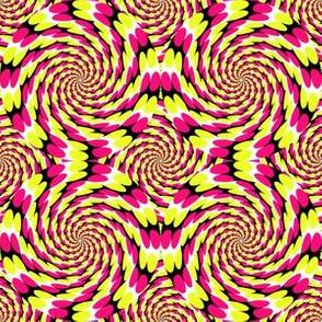 Optical Spirals - Magenta and Yellow