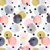 Confetti dots - pink, navy, gold