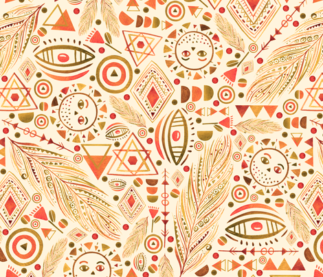 Bohemian Adventure fabric by grace_andersson on Spoonflower - custom fabric
