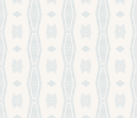 ORINOCO_TRIBAL_FRENCH_BLUE fabric by holli_zollinger on Spoonflower - custom fabric