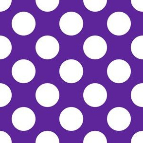 One Inch Close White Polka Dots on Purple