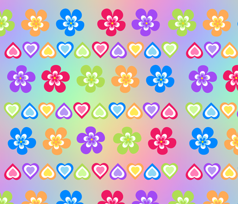 Flowers_and_hearts fabric by karwilbedesigns on Spoonflower - custom fabric