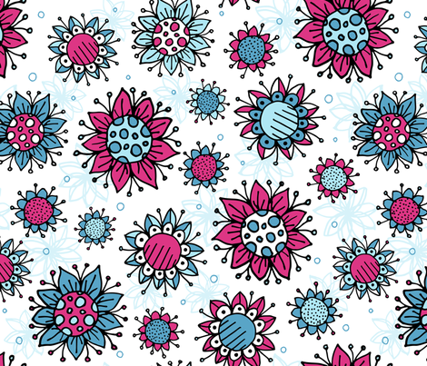 Weird and wonderful (Flowers) fabric by karapeters on Spoonflower - custom fabric
