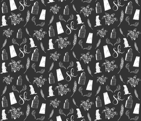 Prairies - Dark fabric by courtneyrosedesign on Spoonflower - custom fabric