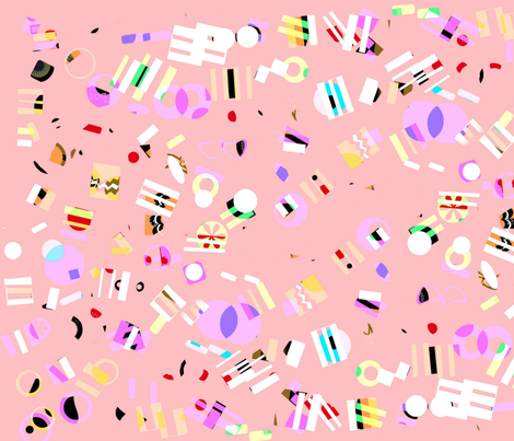 Memphis Candy Fragments fabric by boris_thumbkin on Spoonflower - custom fabric