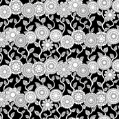 Beautiful-Day-Floral-Stripe-white on black