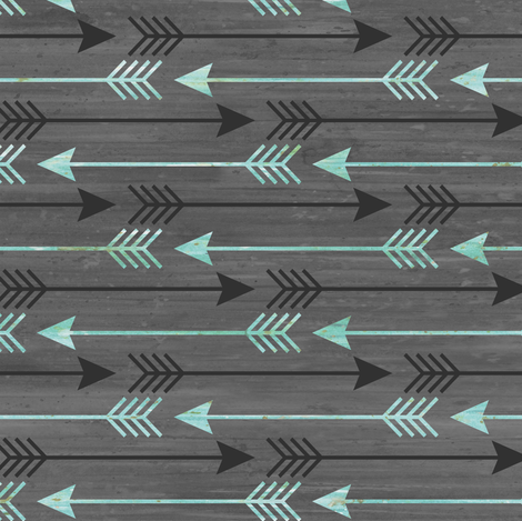 Arrows in Blue and Gray fabric by sarah_treu on Spoonflower - custom fabric