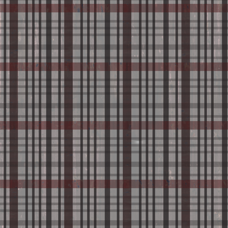 Jensens Plaid Gray-Red fabric by sarah_treu on Spoonflower - custom fabric
