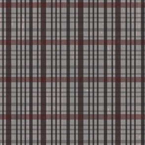 Jensens Plaid Gray-Red