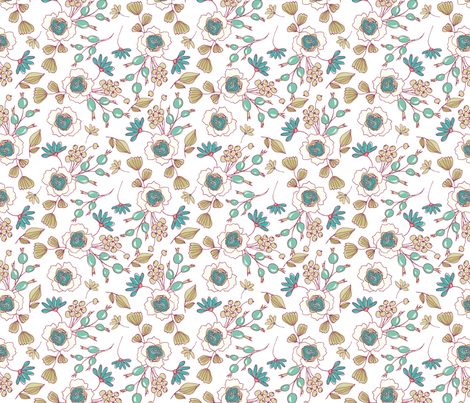 July Flowers fabric by webvilla on Spoonflower - custom fabric