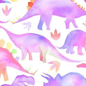 Purple Dinosaurs - larger scale