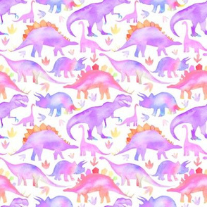 Purple Dinosaurs - smaller scale