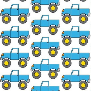 blue monster trucks