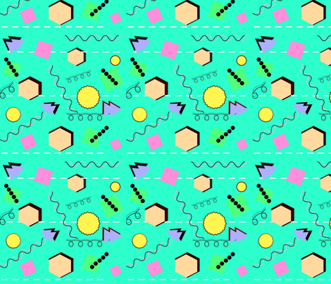 Did someone say 1990? fabric by bent_line_designs on Spoonflower - custom fabric