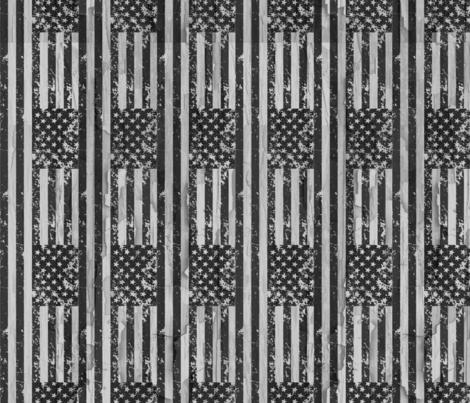 Grudge Grayscale Flags fabric by jamiekoala on Spoonflower - custom fabric